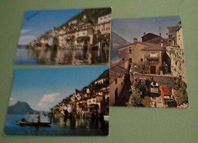 3 versch. AK aus GANDRIA am Lago di Lugano, ab 1964