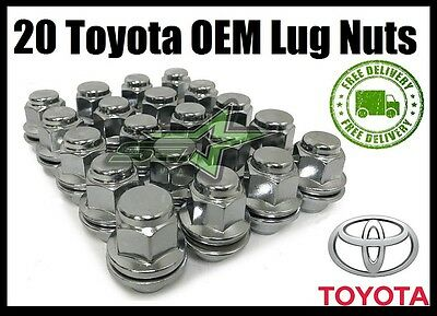 20 TOYOTA  LEXUS OEM FACTORY MAG LUG NUTS  12X15 FITS ALL MAG SEAT STOCK RIMS