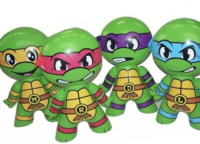 "NEW! 4 Pcs NINJA TURTLE Collection Birthday Party Favors TMNT inflatable toy 24""](Ninja Turtle Birthday Favors)"