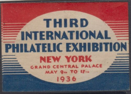 Stamp 1936 Third International Philatelic Exhibition New York USA Cinderella