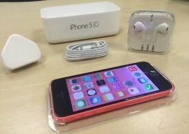 Pink Apple iPhone 5C 32GB Mobile Phone On Vodafone / Lebara / Talk Talk+ Free Case + Warranty
