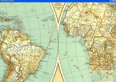 National Geographic Maps - 1935 - The World