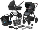 Kinderkraft Xmoov Black 3-in-1 Combi Kinderwagen incl. Au...