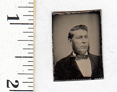 Original Civil War Era Gem Tintype Photo..Man w/Porkchop Sideburns....#461 - Porkchop Sideburns