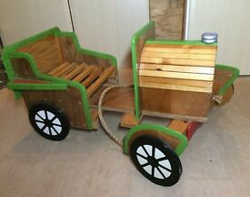 Professionally made wooden car