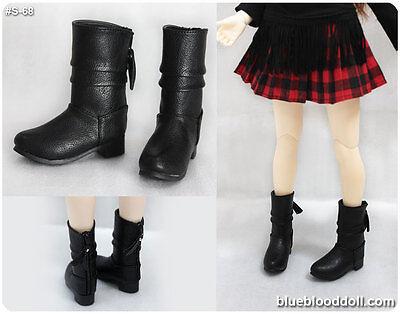 1/4 bjd msd girl doll black color short boots shoes dollfie luts minifee S-68M