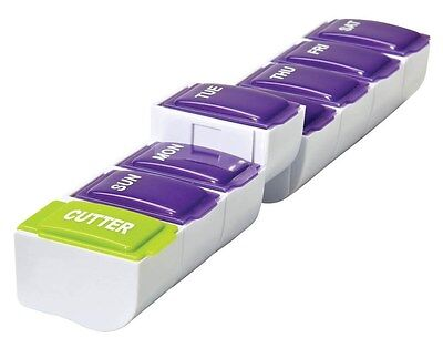 Detach N Go 7 Day Organizer with Pill Cutter 1 Unit