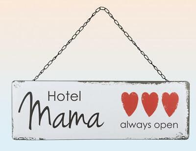 Hotel Mama Metal Tin Sign 17 11/16in Vintage Look, New, Tin Sign