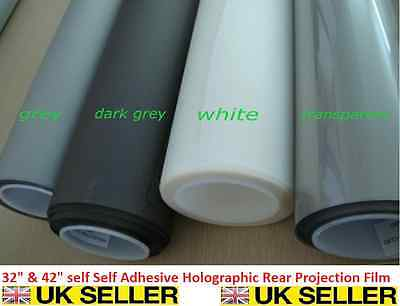 "Self Adhesive Holographic Rear Projection Screen Material Window Film 32"" & 42"""