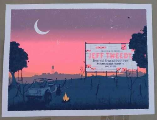 JEFF TWEEDY McHenry Drive In Poster 9/18/20 S&N 198/210 Wilco