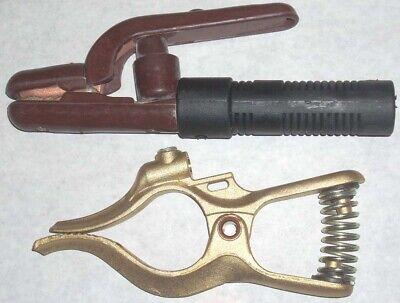 Jackson 300 Amp Welding Electrode Holder 300 Amp Brass Ground Clamp Fits Tweco