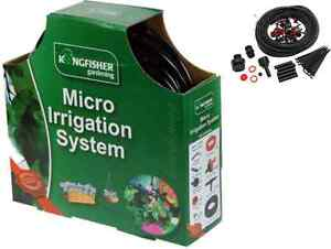 MICRO IRRIGATION SYSTEM HANGING BASKET WATERING KIT SET 23M GREENHOUSE GARDEN