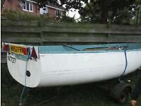 13ft6 boat and trailer
