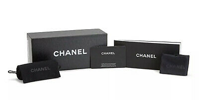 "Authentic Chanel Sunglasses Storage Box Gift Set + Extras 7.25"" x 3.25"" x (Sunglasses Gift Box)"