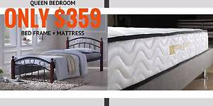 【Super Sale!】 QUEEN Bed PLUS Pocket Spring Mattress Nunawading Whitehorse Area Preview