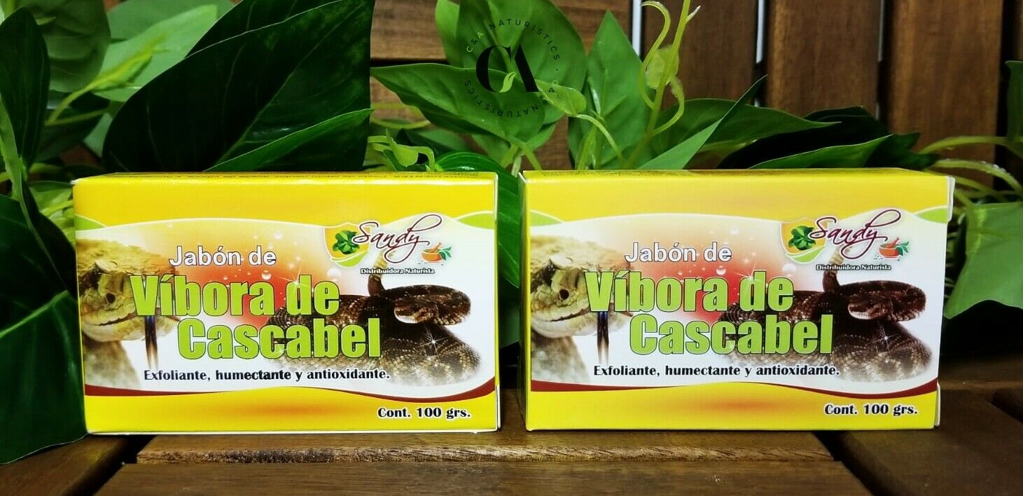 Jabón de Víbora de Cascabel Exfoliante, Humectante & Antiox cont.100grs (2 Pack)