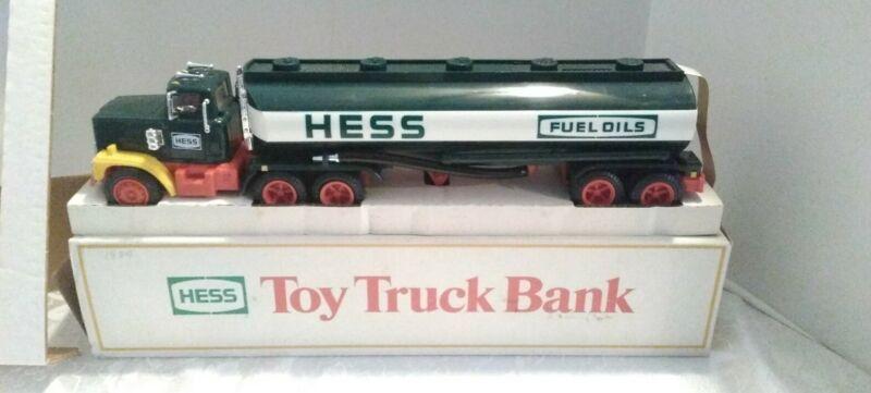 Vintage 1984 Hess Gasoline Fuel Oils Classic Tanker Truck Bank Toy