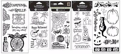HAMPTON ART Clear Stamps - HALLOWEEN THEME - CHOOSE ONE! - Halloween Themed Art