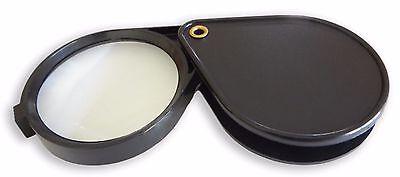 "Gift Idea 4X Folding Pocket Magnifier 2"" Magnifying Glass Lens Optical Tool"