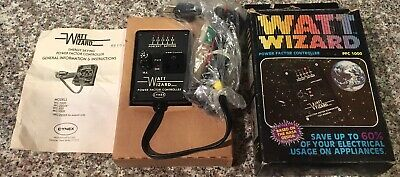 Cynex Watt Wizard Model Pfc1000 Power Factor Controller Vintage 1970s Nos