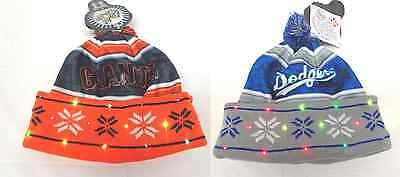 Mlb Led Light Up Wordmark Printed Winter Christmas Beanie Forever Collectibles
