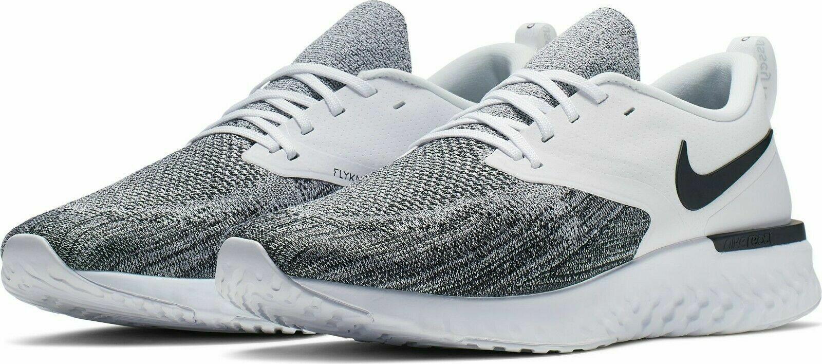 pretty nice 57521 a35da Nike Odyssey React 2 Flyknit Running Shoes Black White Oreo AH1015-100  Men's NEW