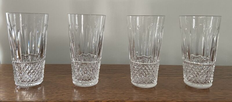 St Louis Crystal Tommy Lot 4 Juice Glasses