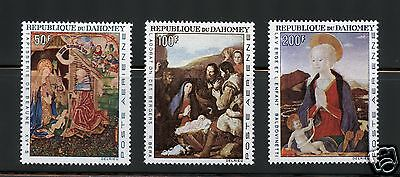 Dahomey Complete MNH Set #C46-48 Religion Paintings Stamps