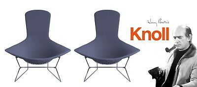 Used, 2 Knoll Bertoia Bird Lounge Chairs w/ Full Cover DWR saarinen EAMES MCM $6352  for sale  Morristown