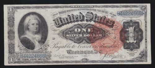 US 1886 $1 Martha Silver Certificate Ornate Back FR 218 VF (668)