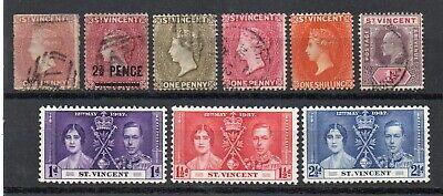 Saint Vincent - Selection of (9) Older MH & Used /   Lot 0721051