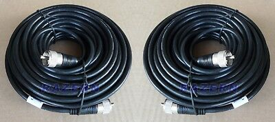 TWO PACK: 50 ft RG8X coaxial coax cable UHF male PL-259 connectors ham radio NEW. Buy it now for 39.95