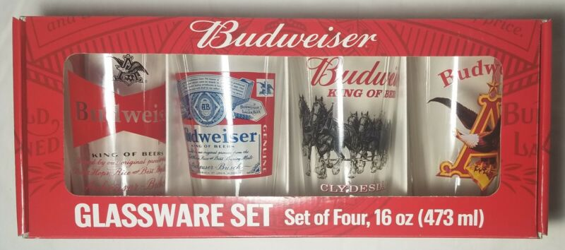Budweiser Glassware Set