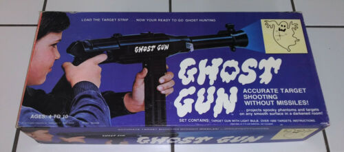 Rare - Ghost Gun - Hasbro - 1974 - Box - Instructions - Targets + Bonus Targets