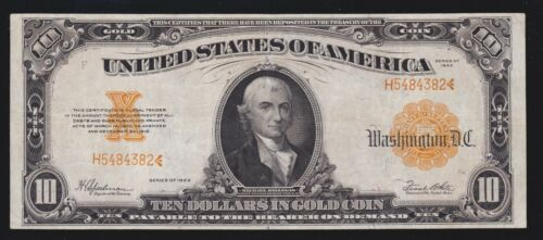US 1922 $10 Gold Certificate FR 1173a VF-XF (-382)
