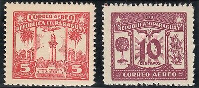 PARAGUAY 1931 AIRMAIL  5c and 10c MLH