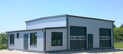 isolierte stahlhalle b ro 10 x 10 x 4 50 5 50 m neu. Black Bedroom Furniture Sets. Home Design Ideas