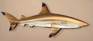 Metal Reef Shark Fish Beach House Art Wall Home Decor