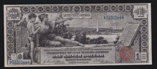 US 1896 $1 Education Silver Certificate FR 224 VF-XF (344)