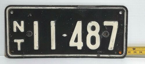 NORTHERN TERRITORY - Australia, 1953 motorcycle license plate - all original