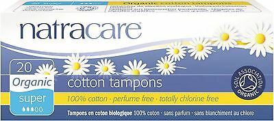 Natracare Organic 100% Cotton Tampons, Super 20 Ea (pack ...