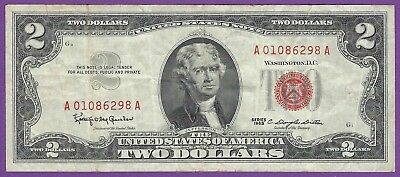 2 00 United States Note   1963   Granahan Dillon   A01086298a