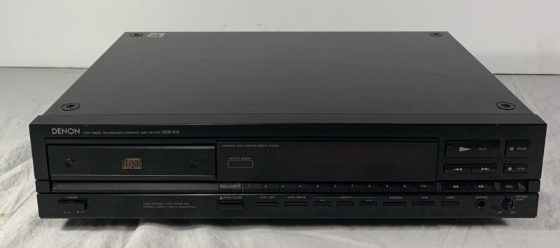 Denon DCD-910 CD Player Tested and Working Vintage 1988