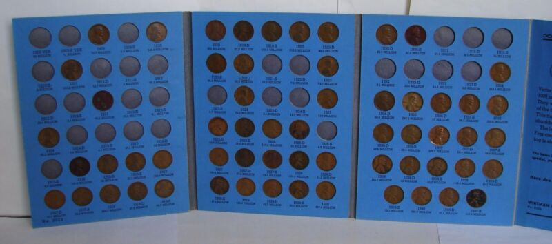 1909 - 1940  LINCOLN HEAD CENT COIN SET OF COPPER PENNIES - 59 COINS