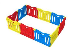 NEW Baby Care FunZone Playpen - Vivid (Yellow, Red, Blue) Condtion: New