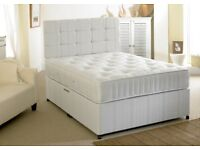 💫💫 LIMITED OFFER 💫💫BRAND NEW DOUBLE DIVAN BED WITH MATTRESS £99 - EXPRESS DELIVERY BASE ONLY £49