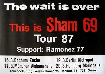 SHAM 69 TOUR POSTER / KONZERTPLAKAT