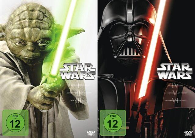 Krieg der Sterne STAR WARS 1 2 3 4 5 6 COMPLETE COLLECTION 6 DVD komplett Box