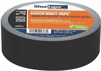 Shurtape 203674 2 X 60 Yd Black Performance Cloth Duct Tape Pc 618
