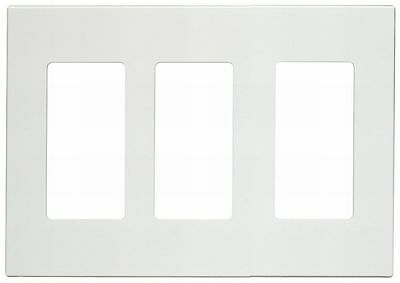 Leviton 80311-SW 3-Gang Decora Plus Screwless Snap-On Wallplate, White